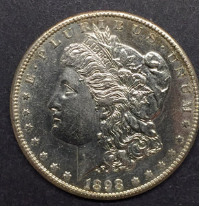 1898-S Morgan Silver Dollar, MS-62PL