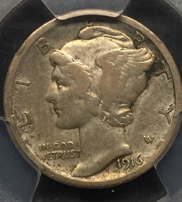 1916-D Mercury Head Dime VF20 PCGS