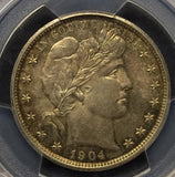 1904 Barber Half Dollar, MS63, PCGS