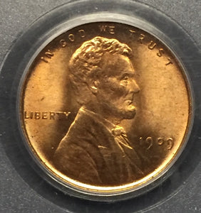 1909-VDB Lincoln Cent MS65RD PCGS