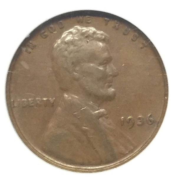 1936 DDO #1 Lincoln Cent VF30 ANACS