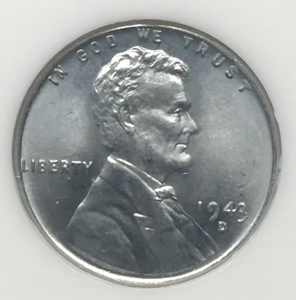 1943-D Lincoln Cent MS67 NGC