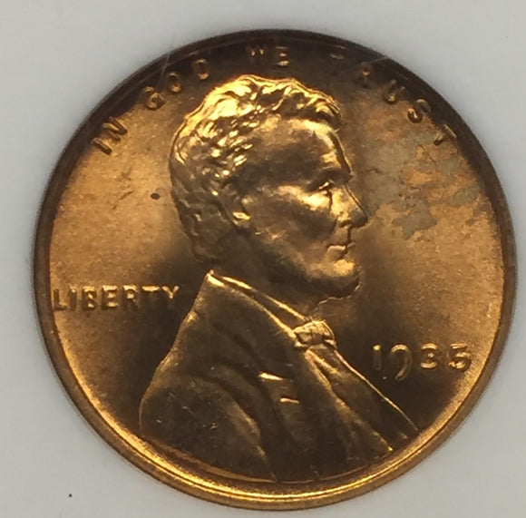 1935 Lincoln Cent MS65RD NGC