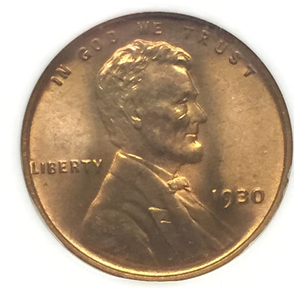 1930 Lincoln Cent MS66RD NGC
