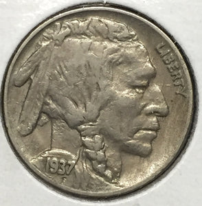 1937-D 3Leg Buffalo Nickel XF45