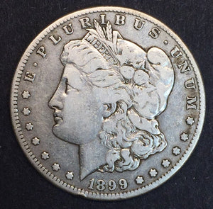 1899-S Morgan Silver Dollar VF