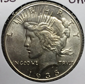 1935 Peace Dollar Uncirculated