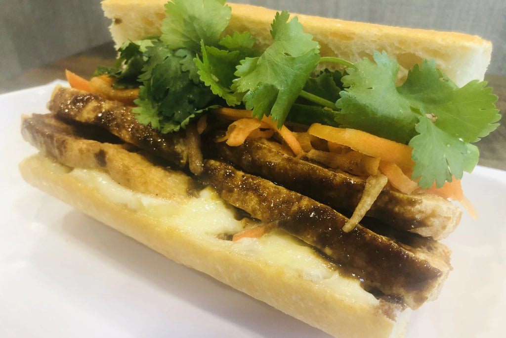 Curried Coconut Tofu Banh Mi