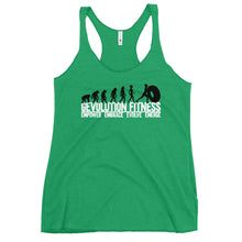 Load image into Gallery viewer, Women's Racerback Tank EVOLUTION B/W