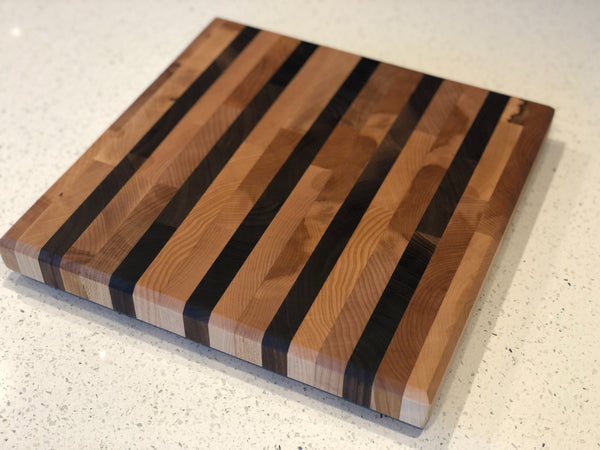 Striped End Grain Cutting Board