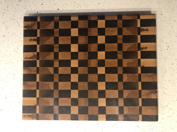 Checkered End Grain Cutting Board