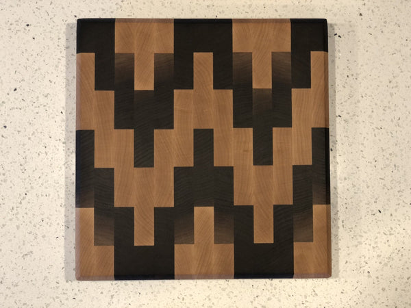 Space Invaders End Grain Cutting Board