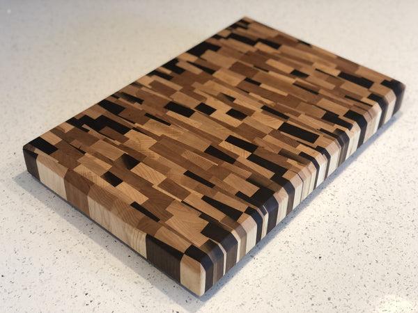 Angled Chaos End Grain Cutting Board