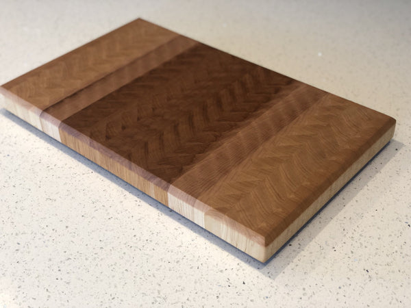 Maple Chevron End Grain Cutting Board
