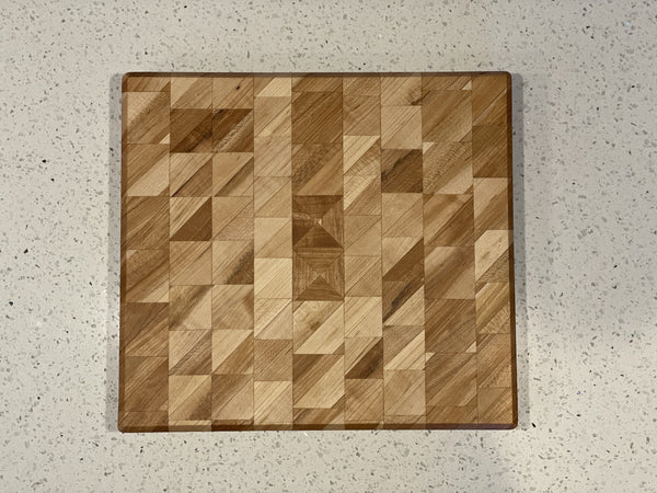 Triangles Galore Edge Grain Cutting Board