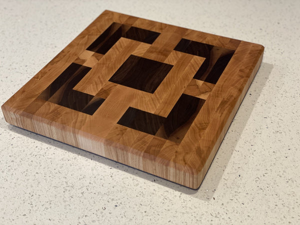 Square on Square Breeze Block End Grain Cutting Board