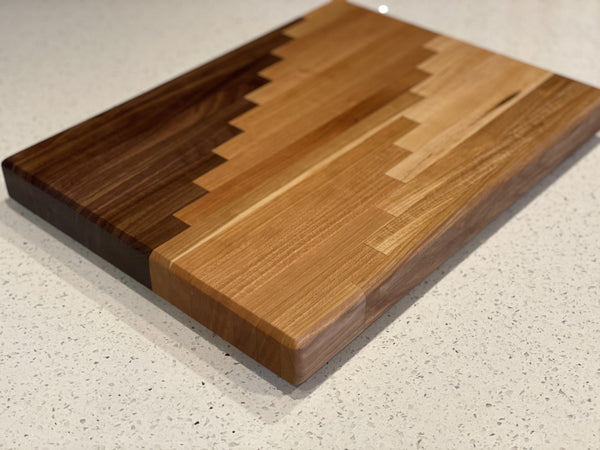 Ombré River Edge Grain Cutting Board