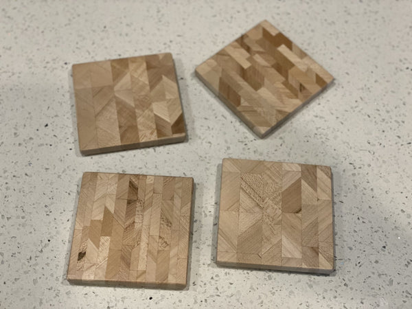 Maple Edge Grain Coasters