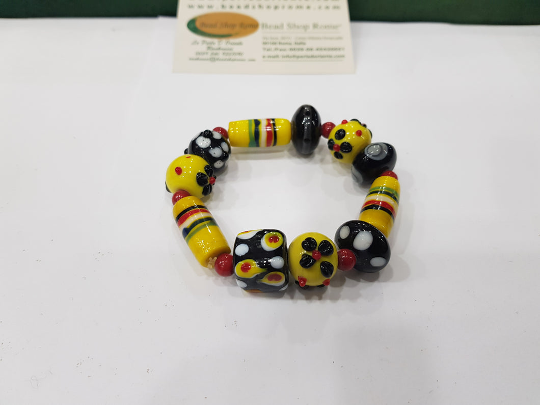 Yellow & Black Bracelet