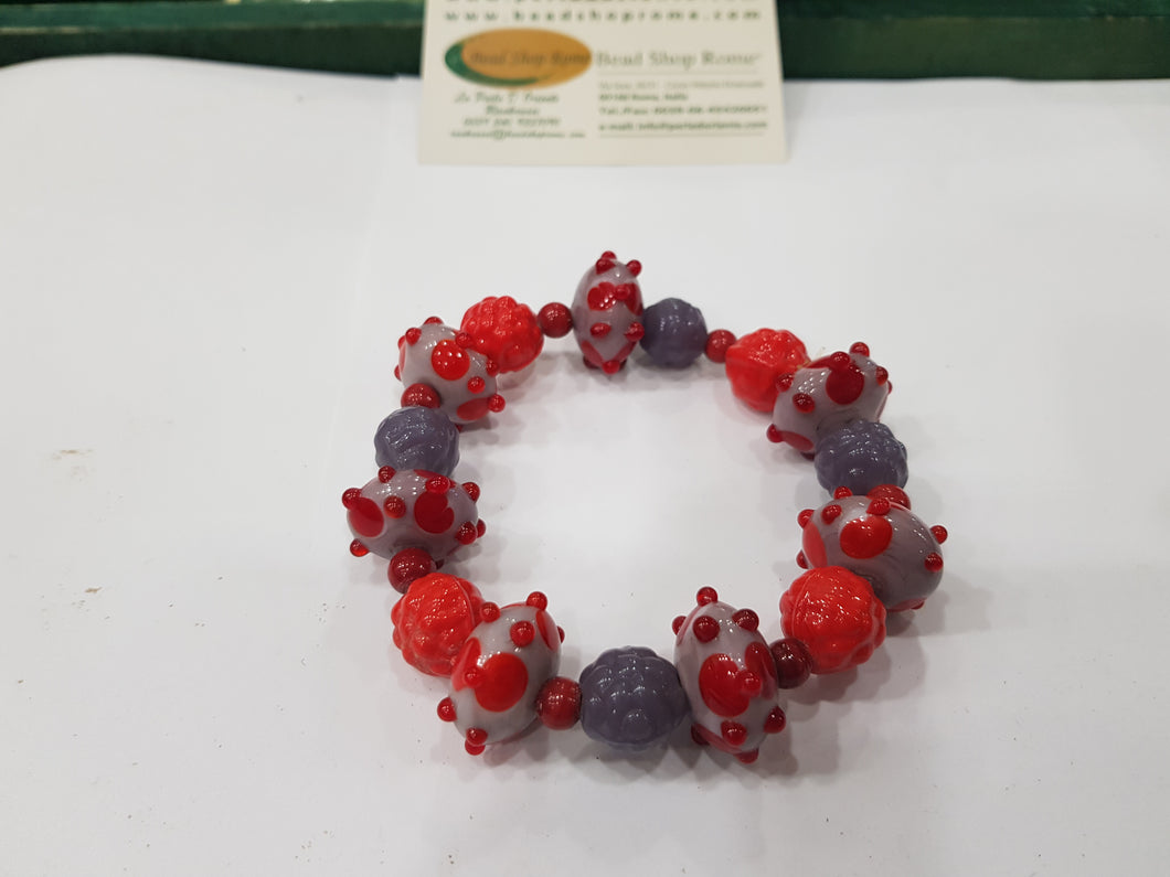 Red Purple Bracelet