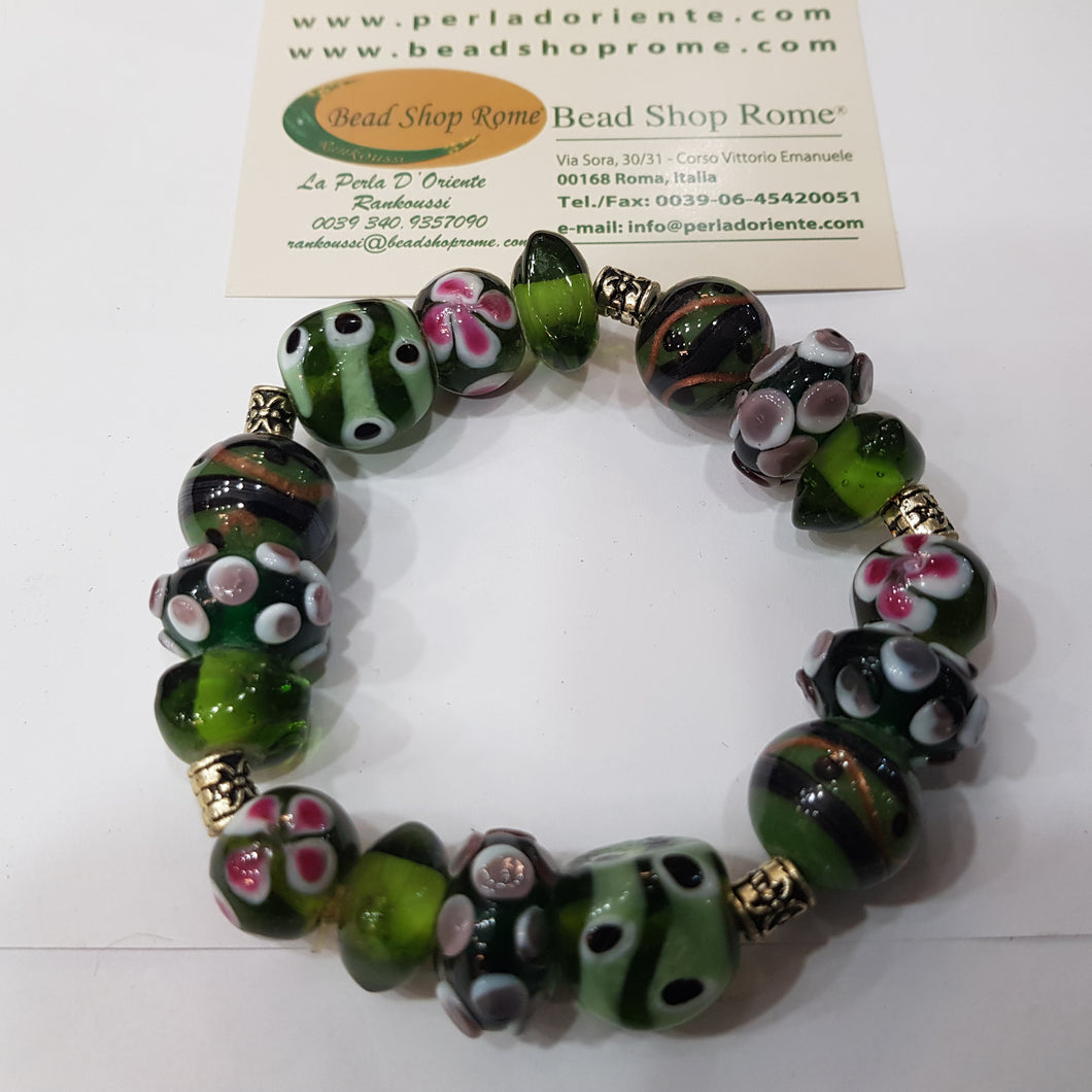 Purple Green Golden Bracelet