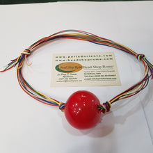Load image into Gallery viewer, Blown Red Round Bead Pendant
