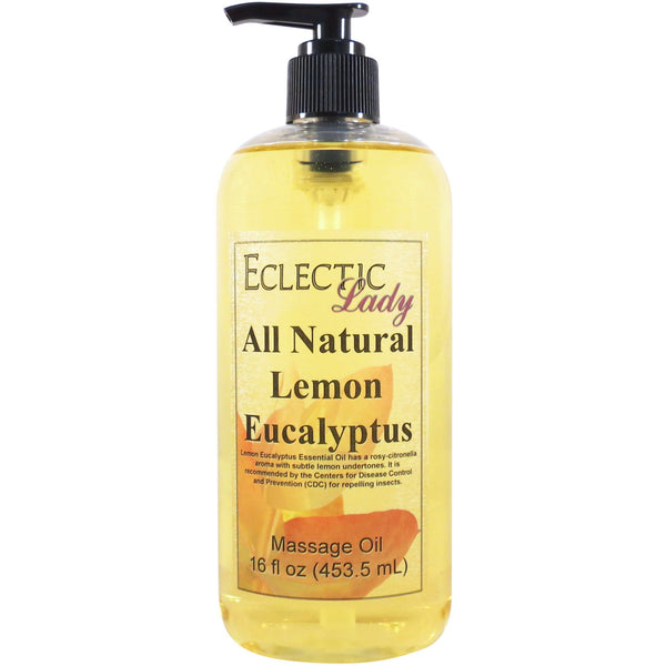Lemon Eucalyptus Essential Oil Massage Oil