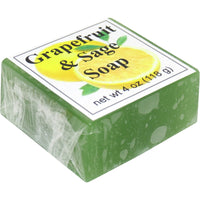Grapefruit and Sage Handmade Glycerin Soap