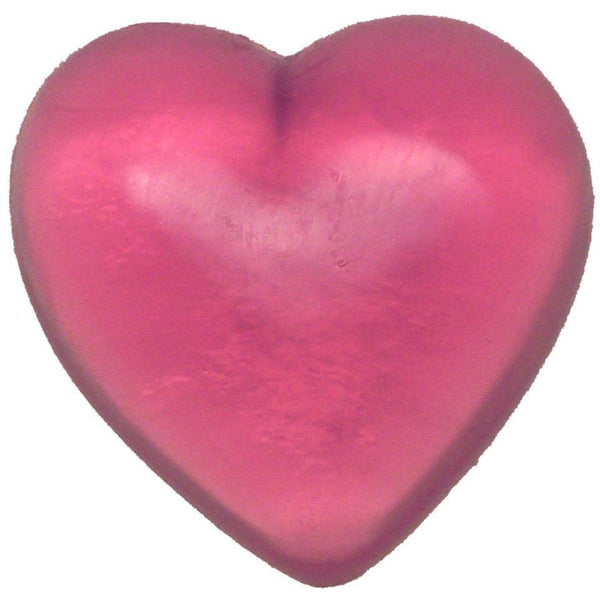 Cashmere and Silk Handmade Heart Soap