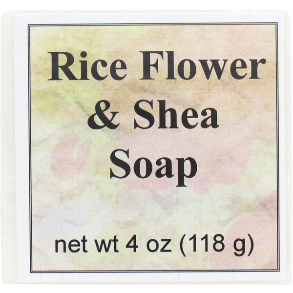Rice Flower and Shea Handmade Glycerin Soap