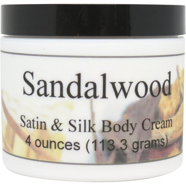 Sandalwood Satin and Silk Cream