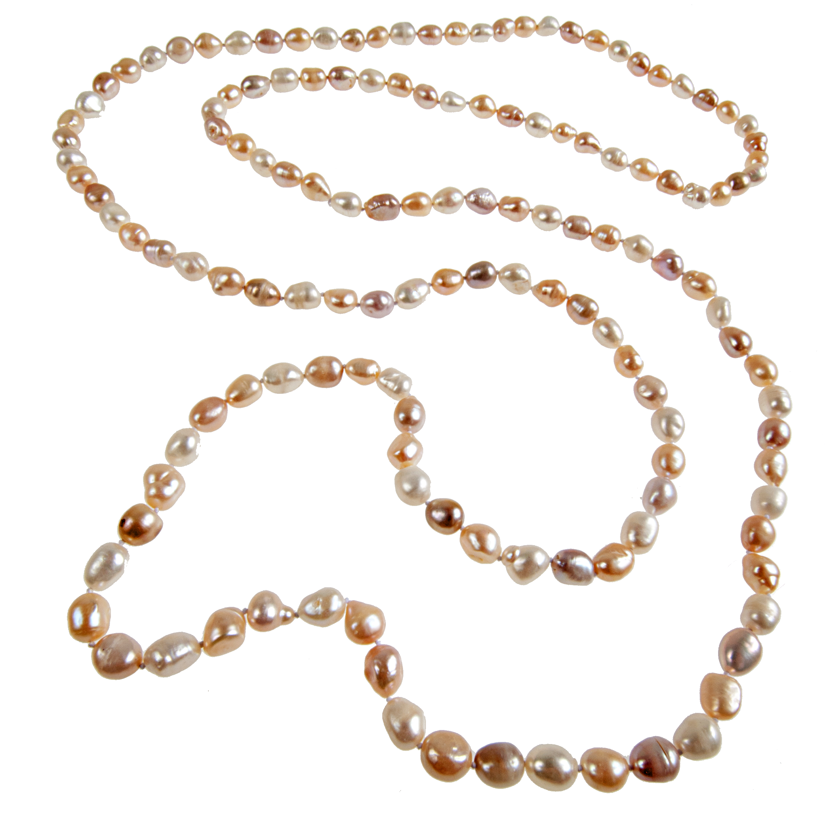 FIVE FOOT Hand-Knotted Cultured Pearl Necklace - KJKStyle