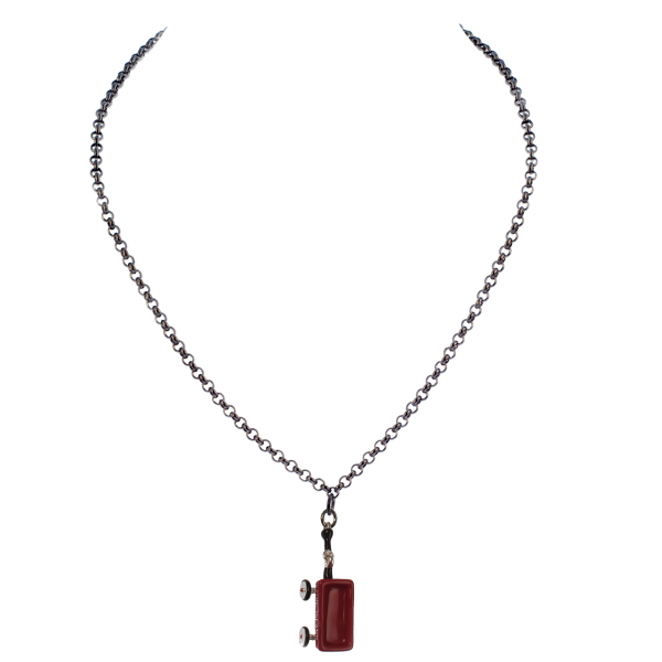 Fire Island Red Wagon Charm Necklace - KJKStyle