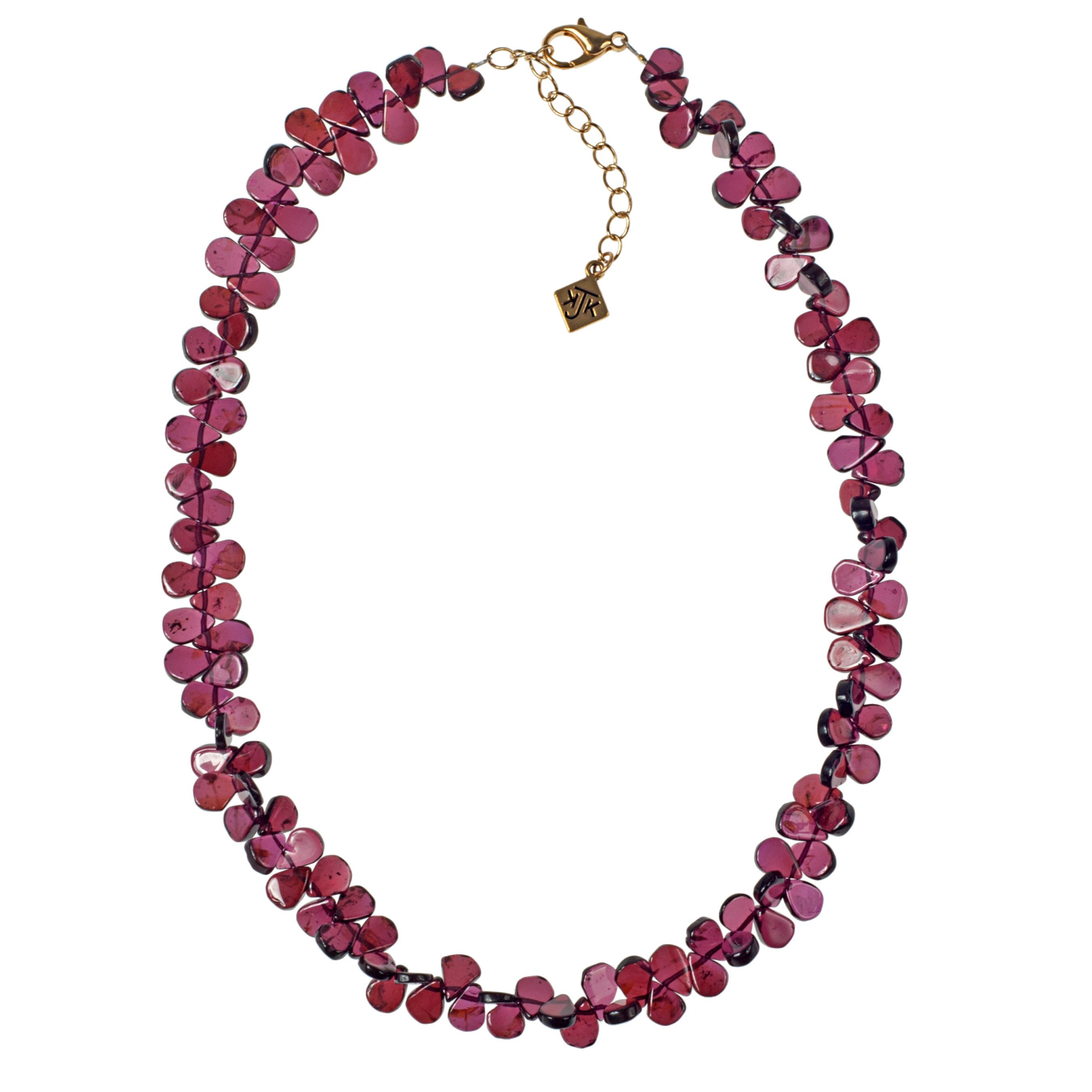 Dancing Garnet Teardrops Necklace - KJKStyle