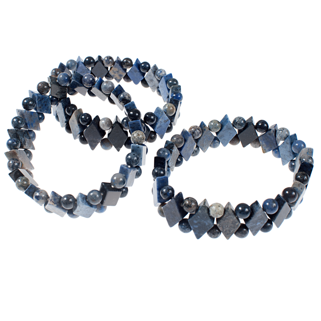 Sodalite Diamond Elasticated Bracelet - KJKStyle