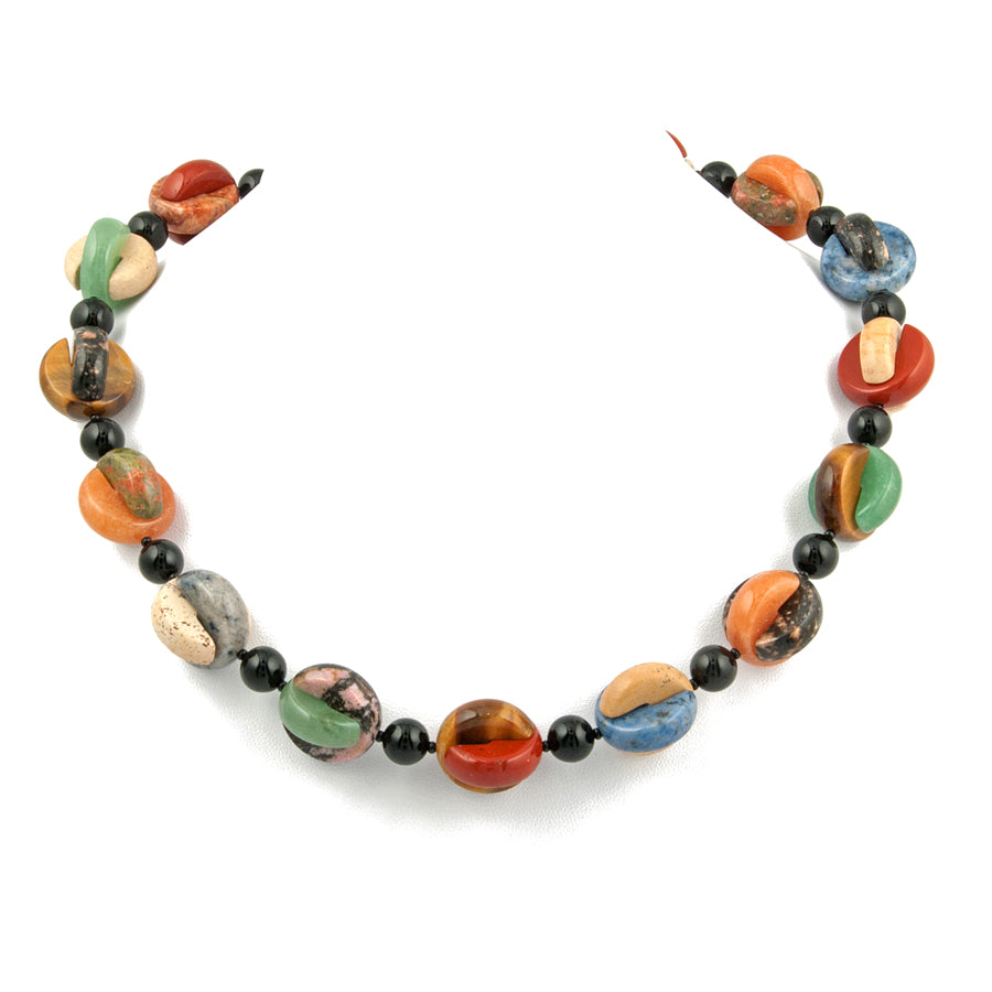 Interlocking Multi-stone Necklace - KJKStyle