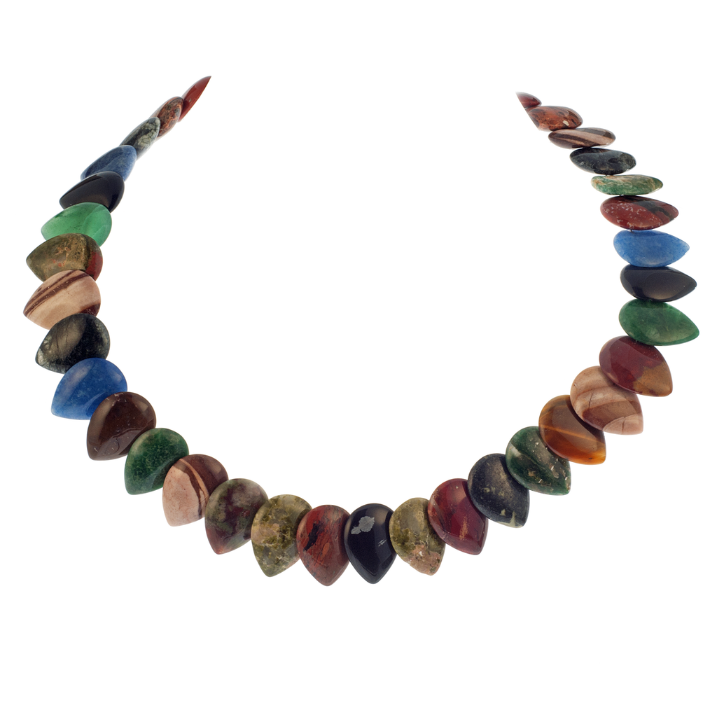 Dramatic Semiprecious Stone Drop Necklace - KJKStyle