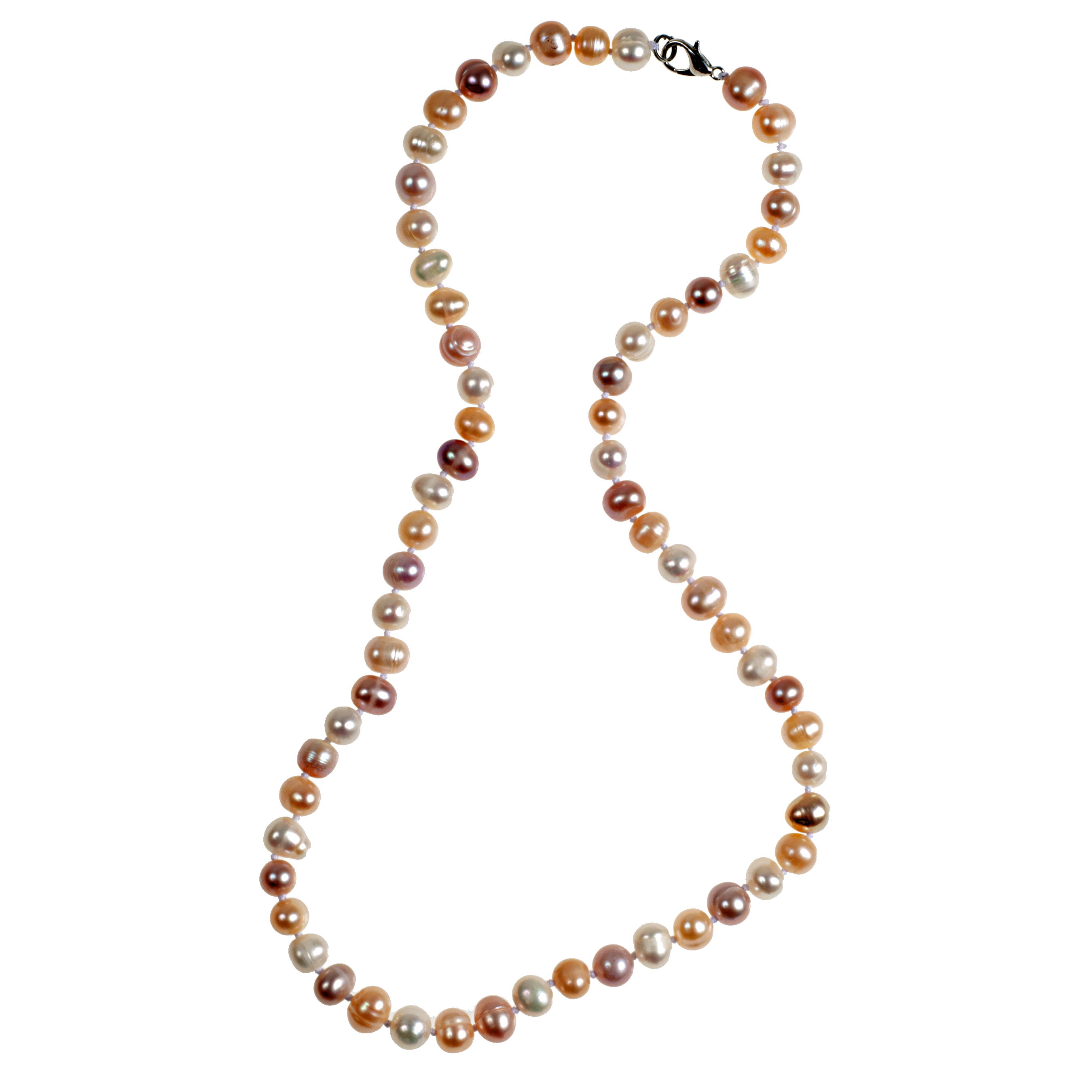 Knotted Blush-Tone Cultured Pearl Necklace - KJKStyle