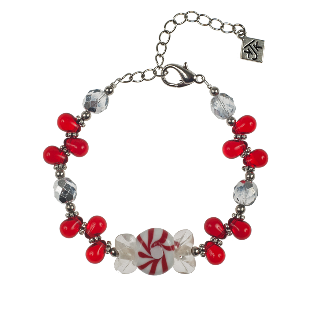 Glass Christmas Candy Bracelet - KJKStyle