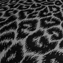 Load image into Gallery viewer, Leopard print black & gray bandana