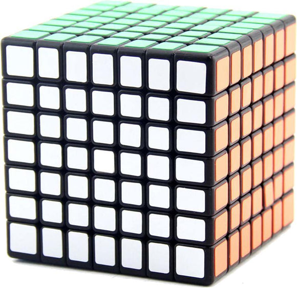 Puzzle Cube 7x7x7 Black White Borderless Magic Speed Cube