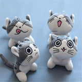 4Designs,  9CM Approx, Cat Plush Stuffed Doll ; Key Ring Chain Gift Toy