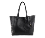 Black June Leather Tote by Shana Luther