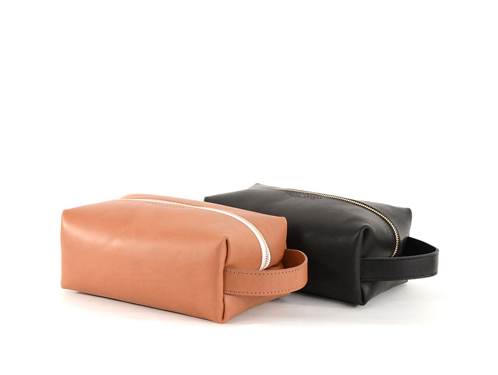 Load image into Gallery viewer, Vegetable tanned leather Dopp kit by Shana Luther