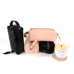 Candle and Leather Makeup Dopp kit gift set by Shana Luther
