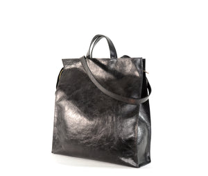 Load image into Gallery viewer, Black Leather Lucy Tote by Shana Luther