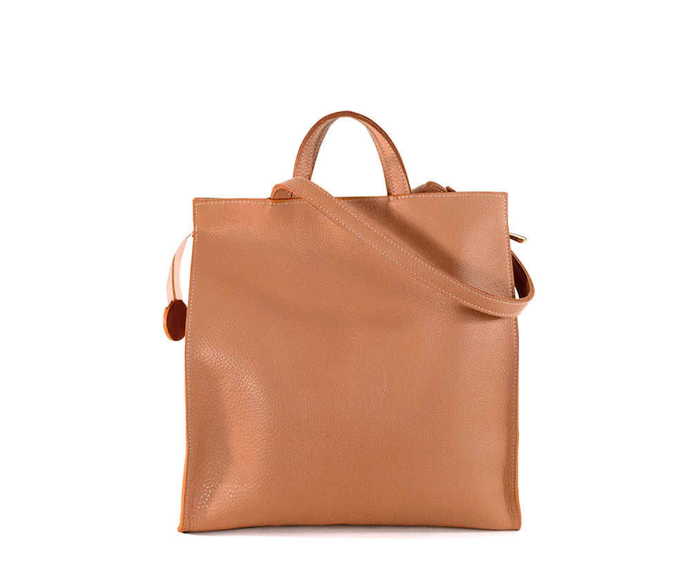 Camel leather Lucy Tote by Shana Luther