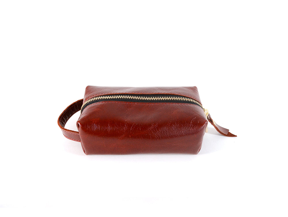 Load image into Gallery viewer, Leather Makeup Dopp kit by Shana Luther