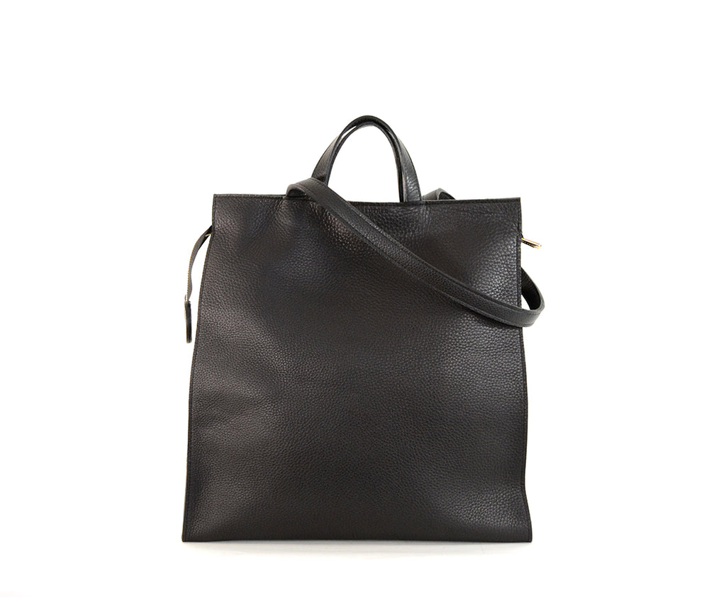 Black Leather Tote by Shana Luther