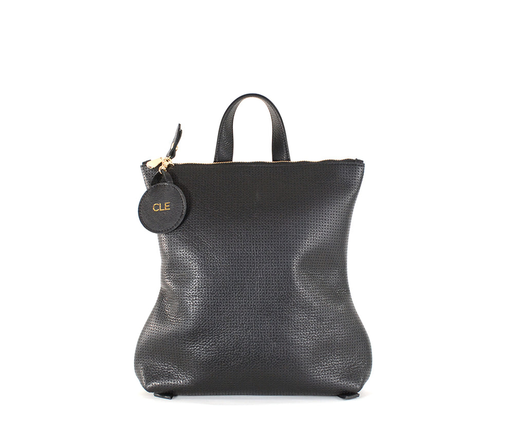 Hill Backpack- Black Perforated Limited Edition